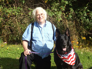 Richard Mann and his service dog Molly